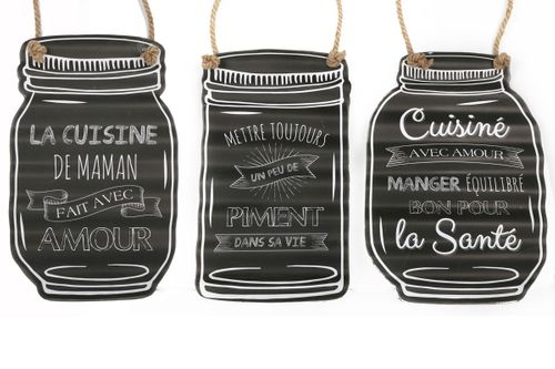 Plaque Metal Message Bocal Decorer Une Cuisine Kalico