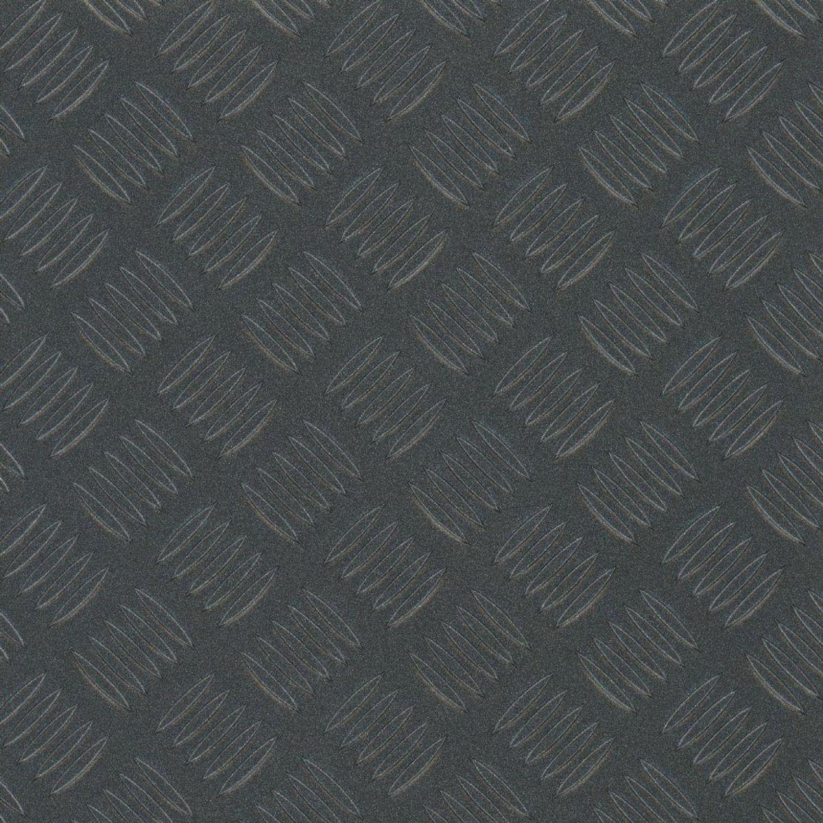 Sol vinyle tôle métal gris Venise 200cm