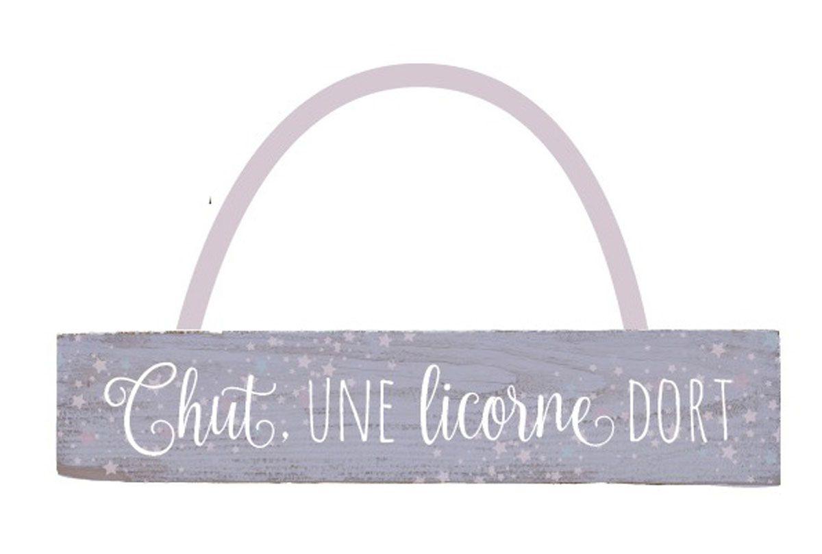 Plaque message licorne 1 plaque