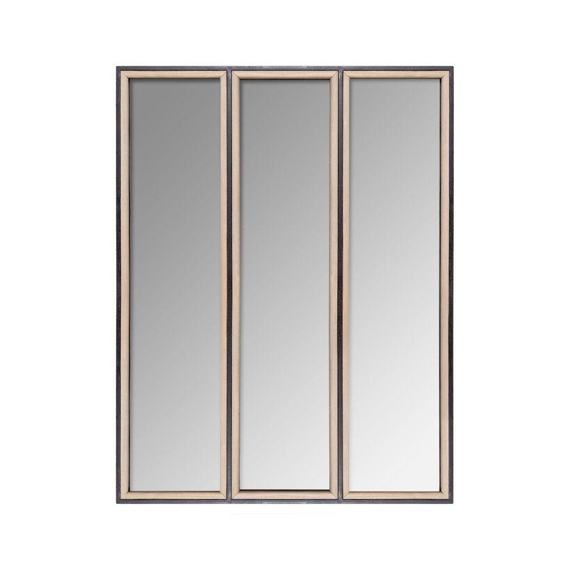 Miroir atelier bois et métal