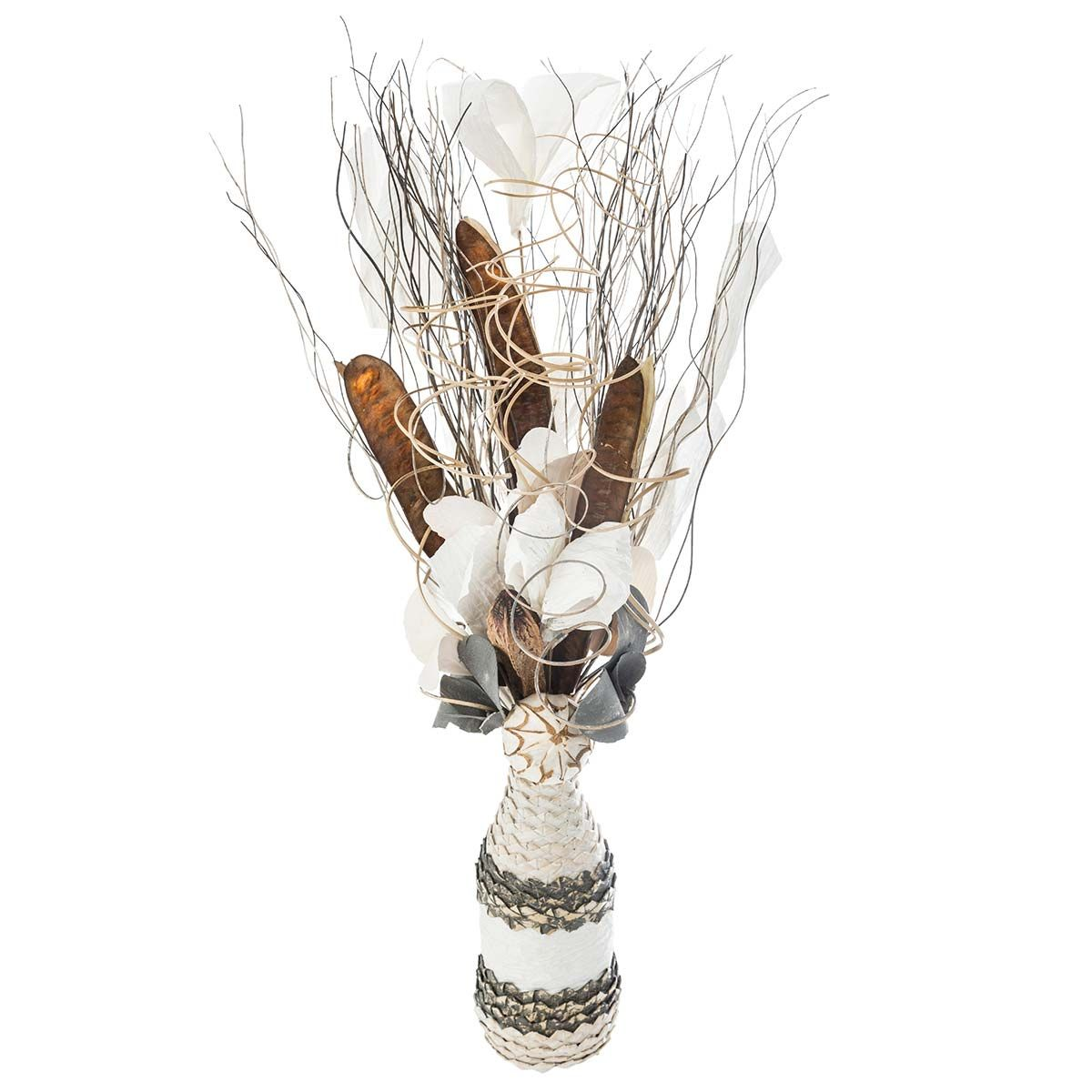 Fagot et vase osier