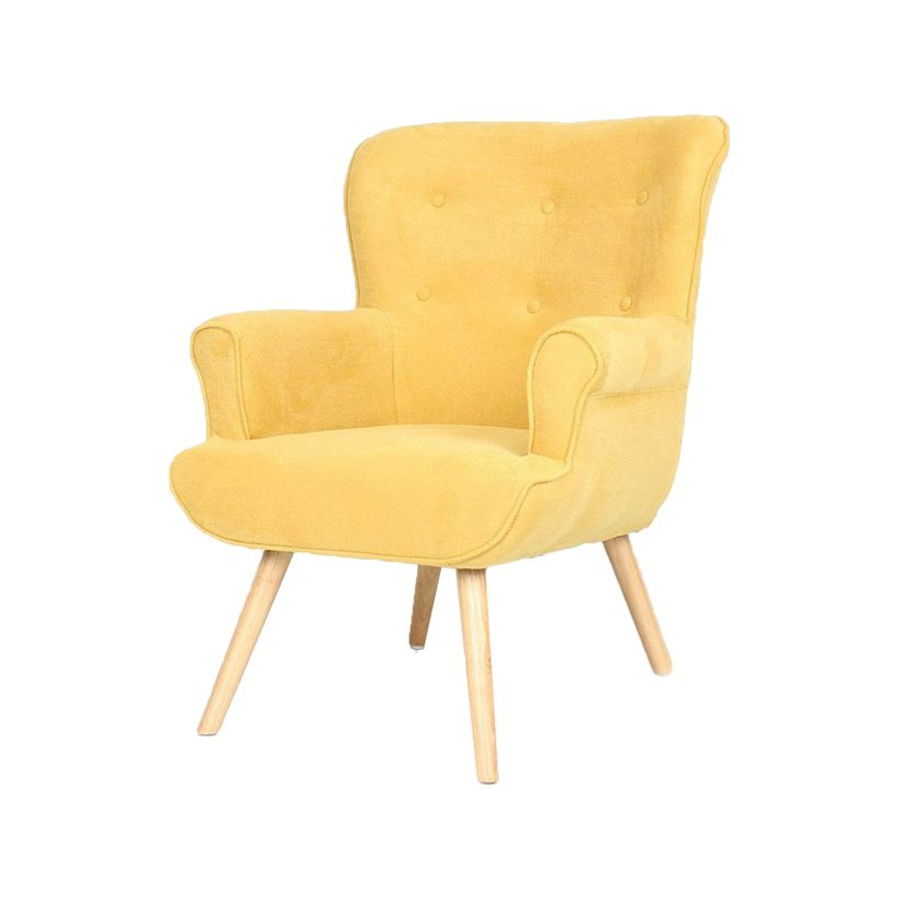 Fauteuil Pinto moutarde