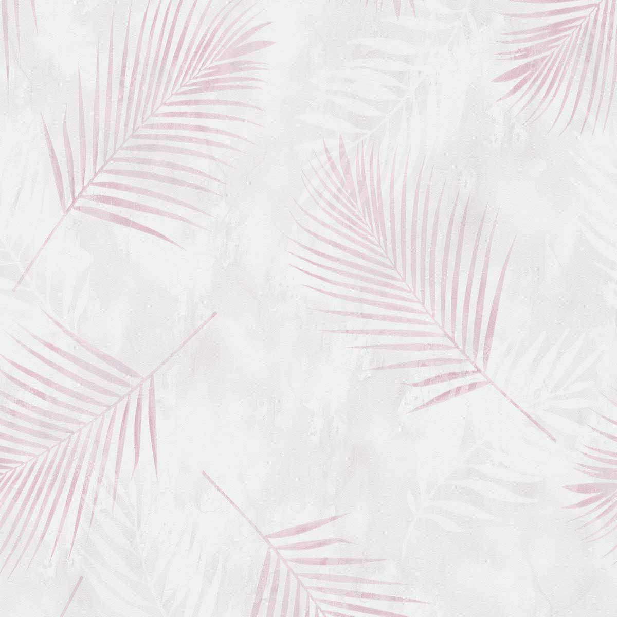 Papier peint vinyl intissé palme rose pâle Mexter