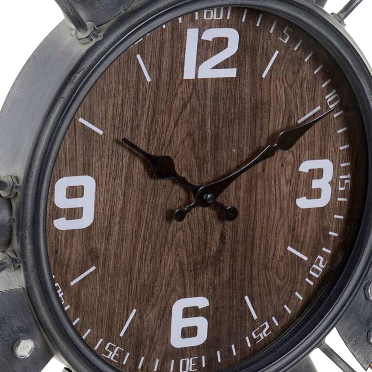 Horloge hélice avion effet bois