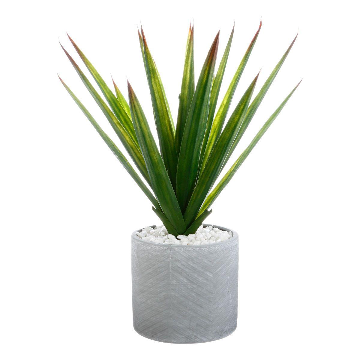 Plante artificielle Aloé Vera en pot H. 48 cm