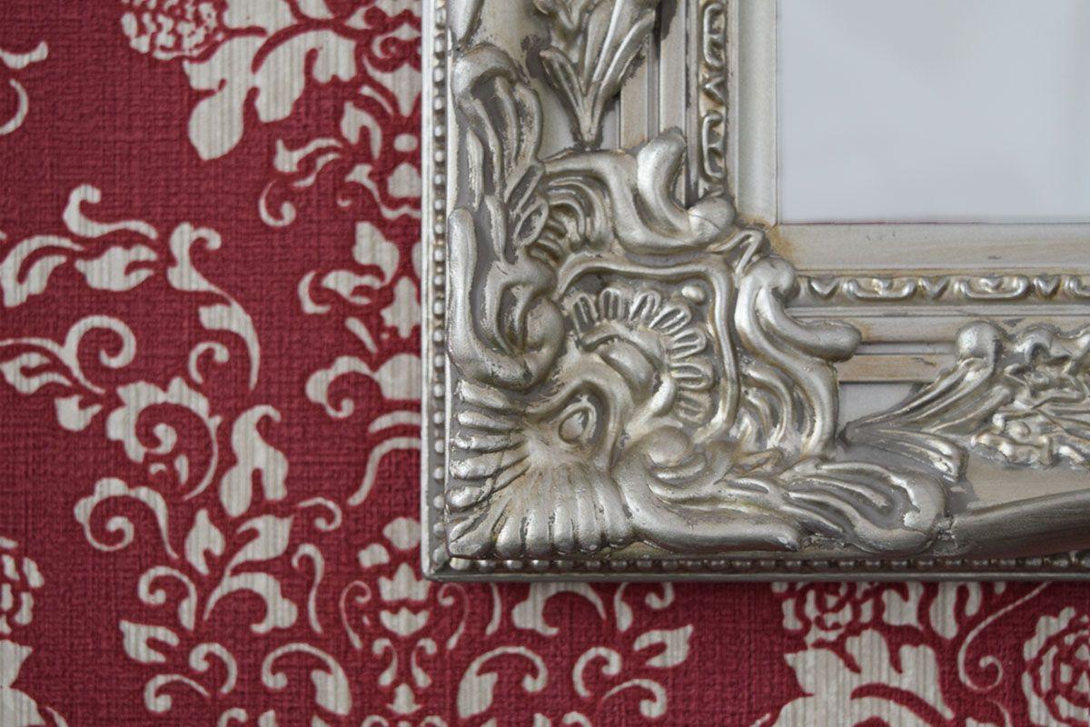 Papier peint baroque bordeaux Buckingham intissé