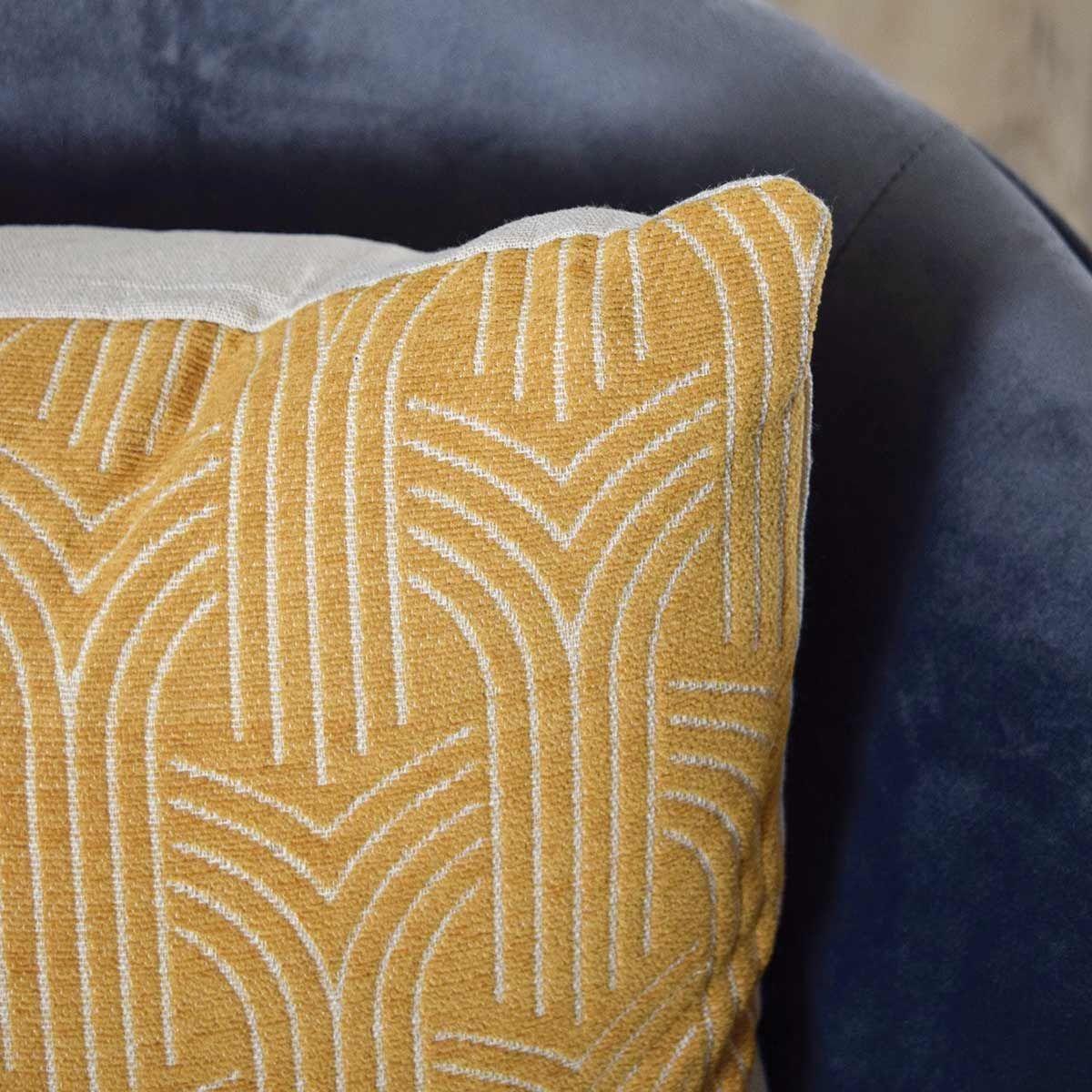 Housse de coussin jaune Art 40x40 cm