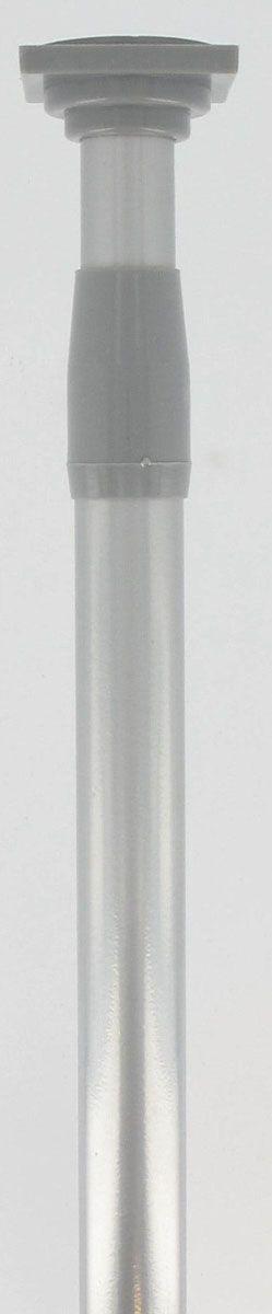 Tringle rideaux ext. sans percer argent 135/250 cm