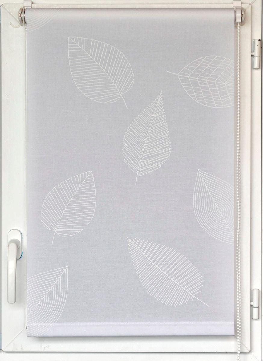 Store enrouleur Elva feuille blanche 60x180cm