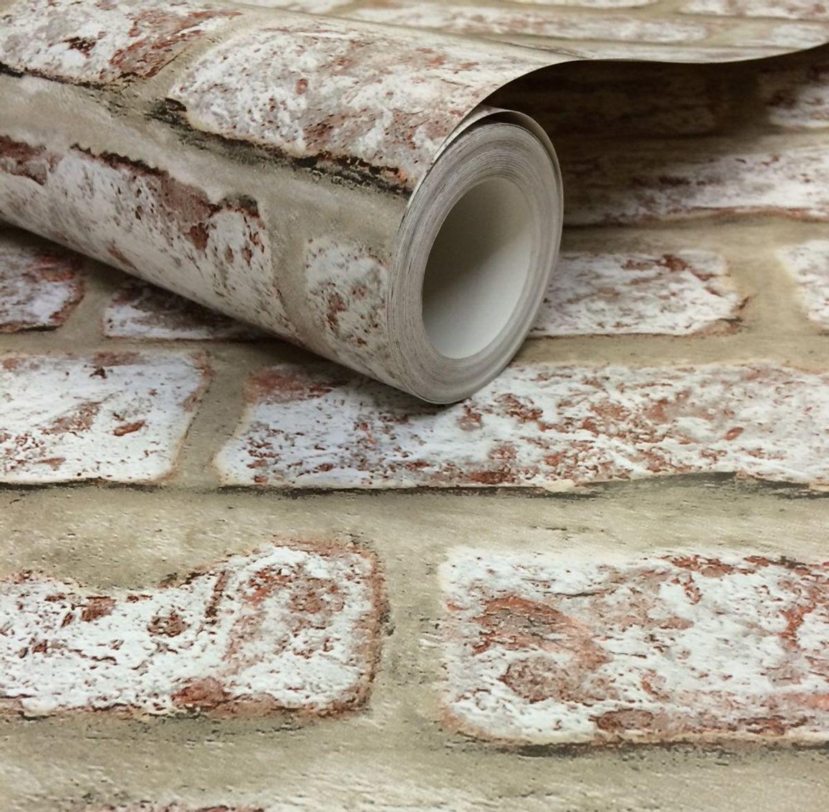 Papier peint duplex papier Brique lanebrick naturel 53cmx10.05m