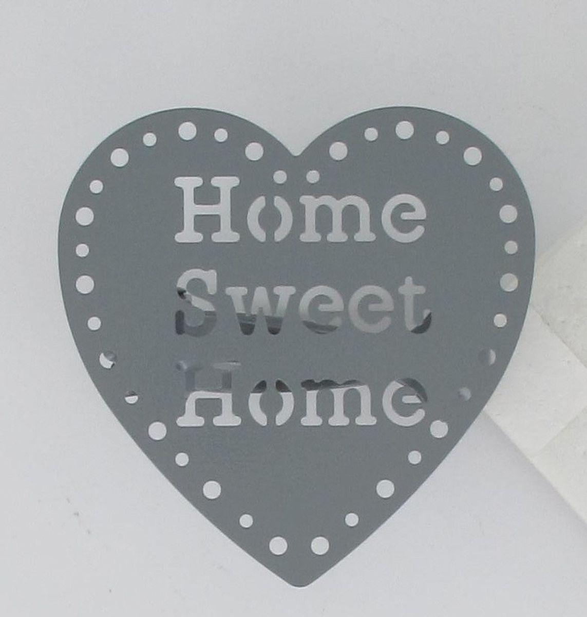 Cœur sur pince gris clair (X2)