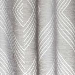 Voilage gris motifs losanges Ollavaria 140x260 cm