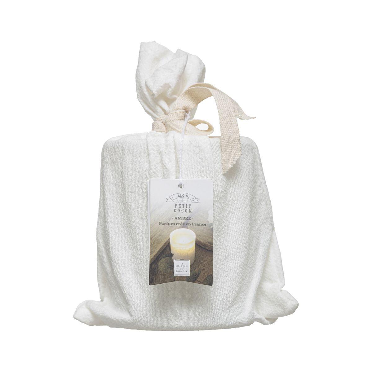 Bougie parfumée avec pot message