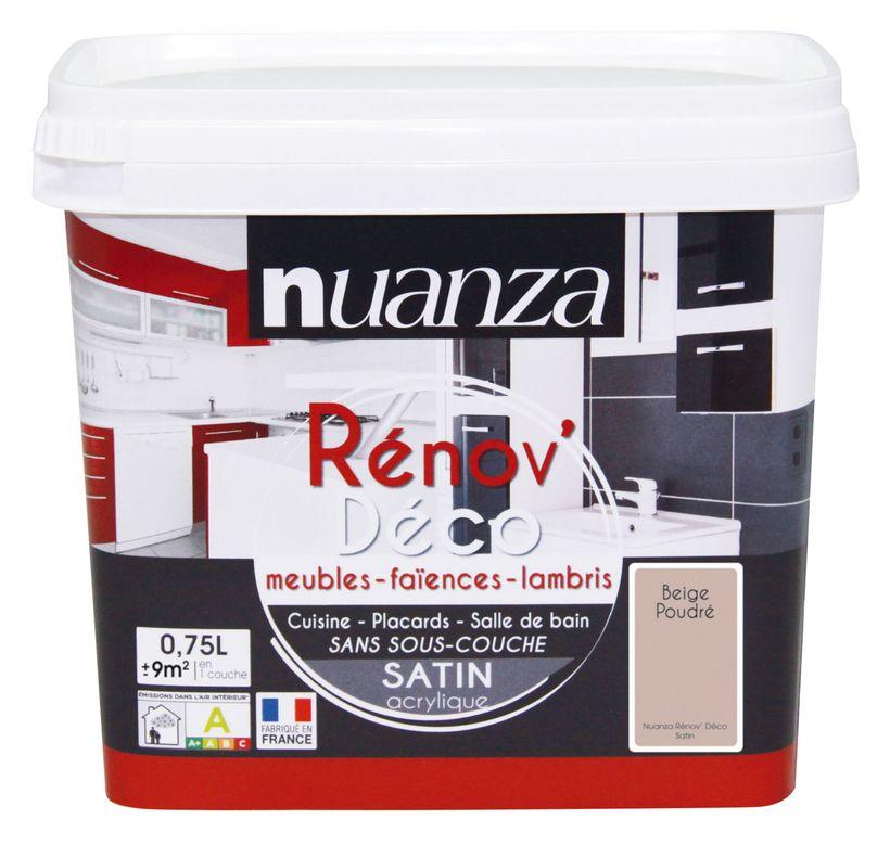 Peinture rénovation satin beige Nuanza 0.75l