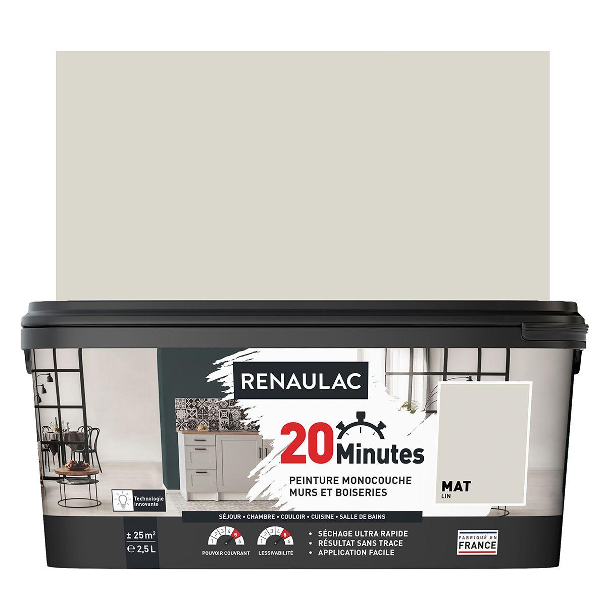 Peinture lin mat 20 minutes chrono Renaulac