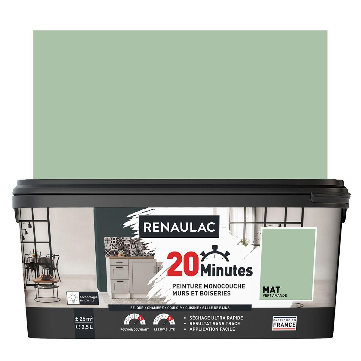 Peinture vert amande mat 20 minutes chrono Renaulac