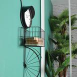 Décoration murale vélo avec horloge
