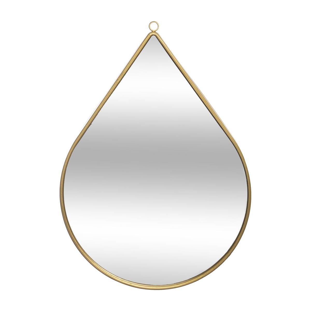 Miroir goutte doré grand modèle