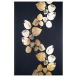 Toile imprimée feuilles or