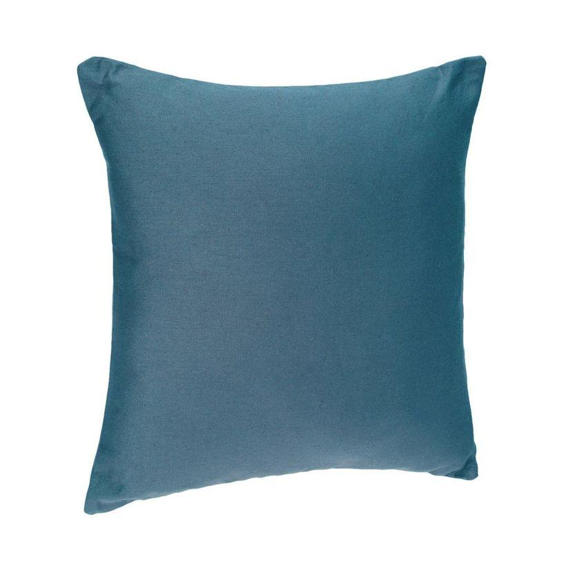 Coussin bleu canard Arki 38x38 cm