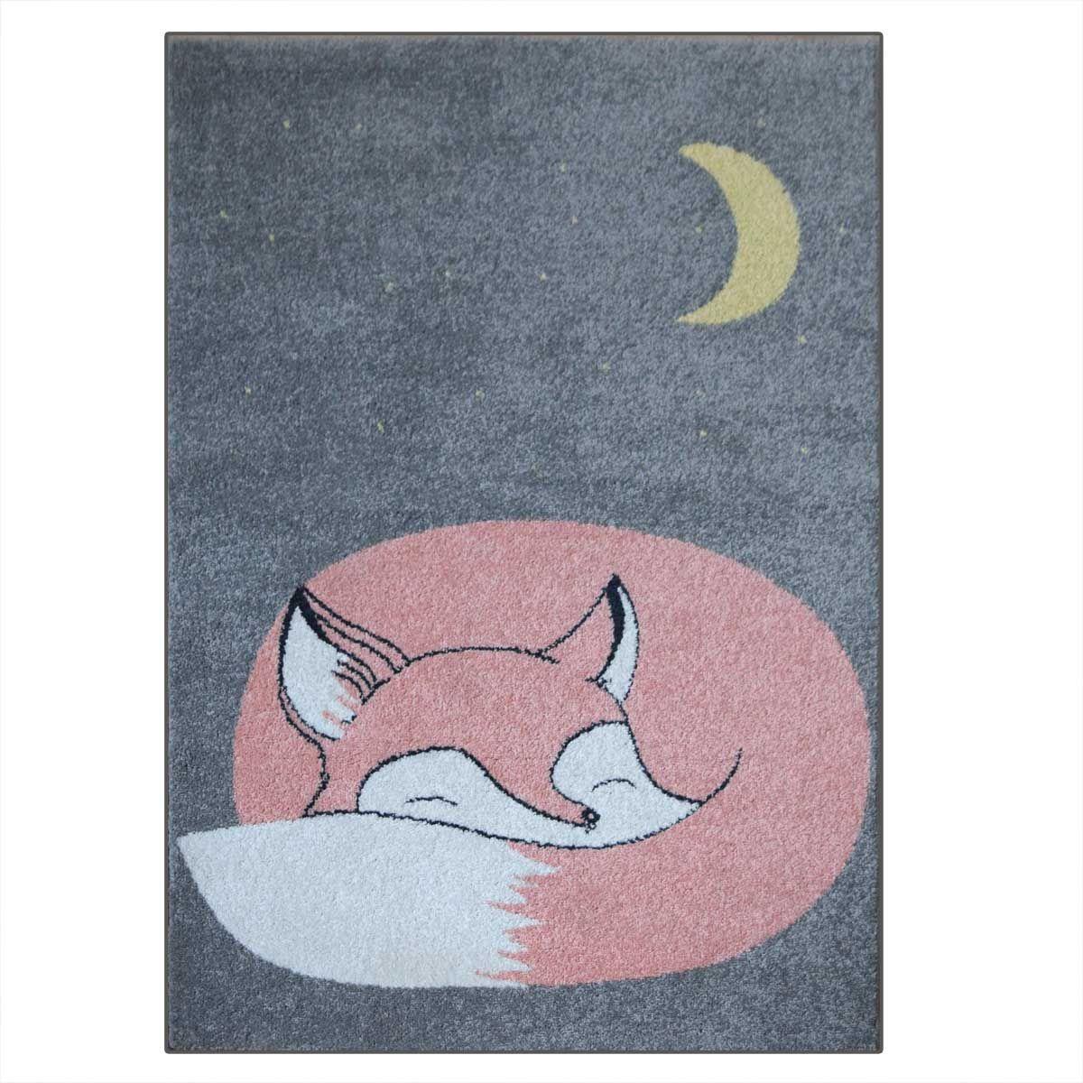 Tapis motif renard Kids 80x150 cm