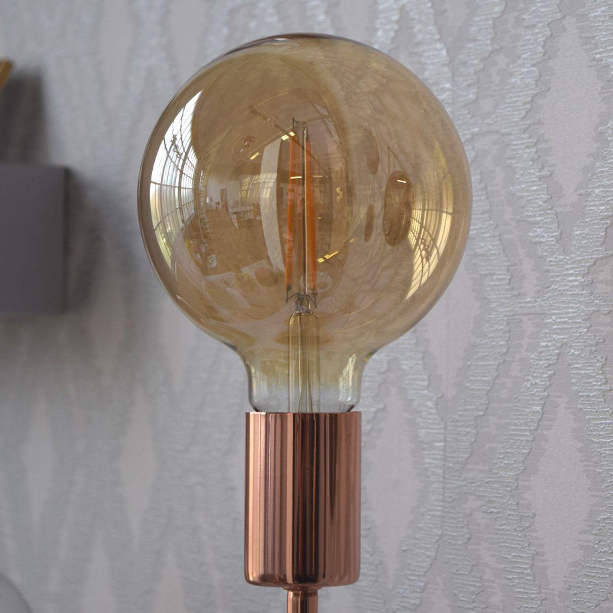 Lampe pied métal cuivre