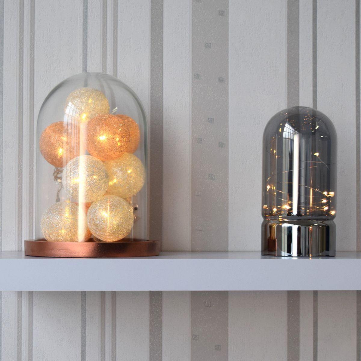 Lampe dôme led argent