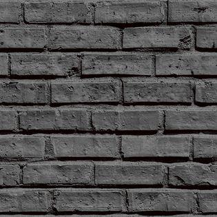 Papier Peint Brique Noir Lanebrick Duplex Kalico