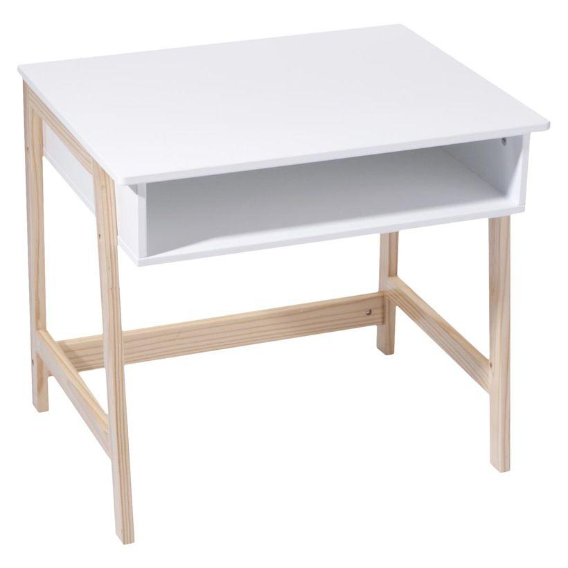 Bureau enfant Scandi blanc et bois