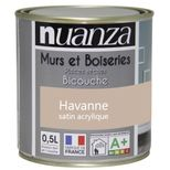 Peinture havane satin murs et boiseries Nuanza 0.5l