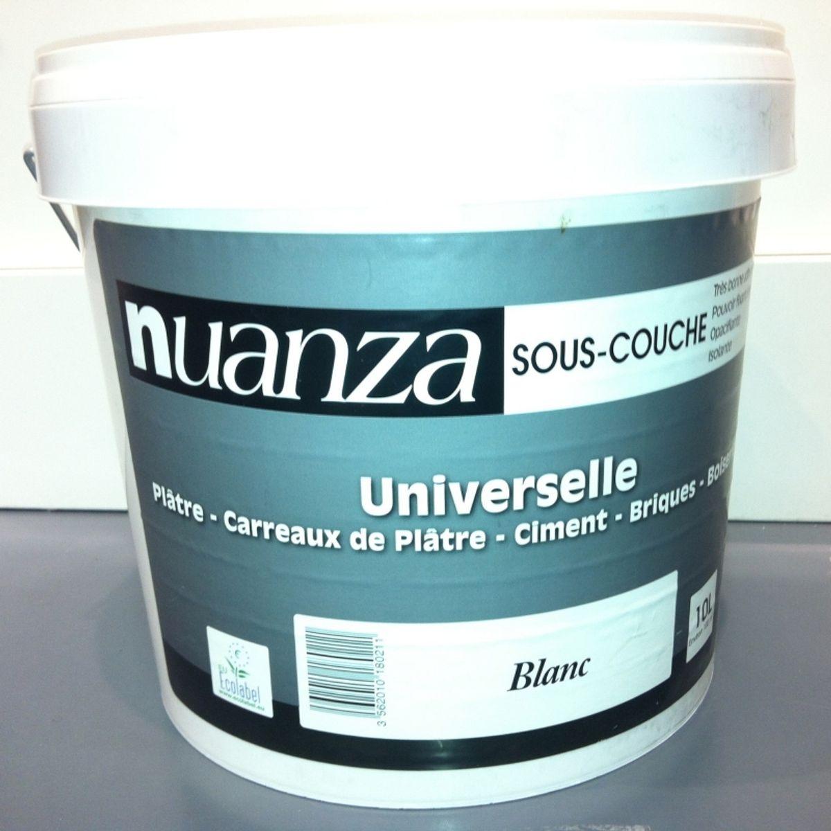 Peinture Nuanza sous couche univ blanc 10l