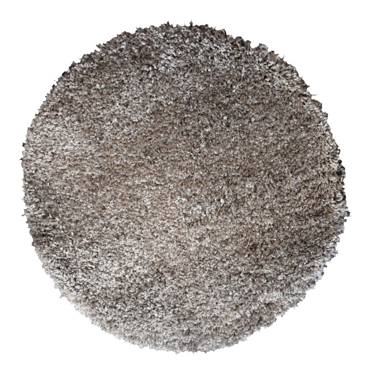 Tapis rond shaggy gris anthracite Softy 60 cm