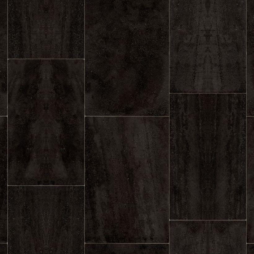 Sol PVC carrelage gris foncé Adrano 400cm