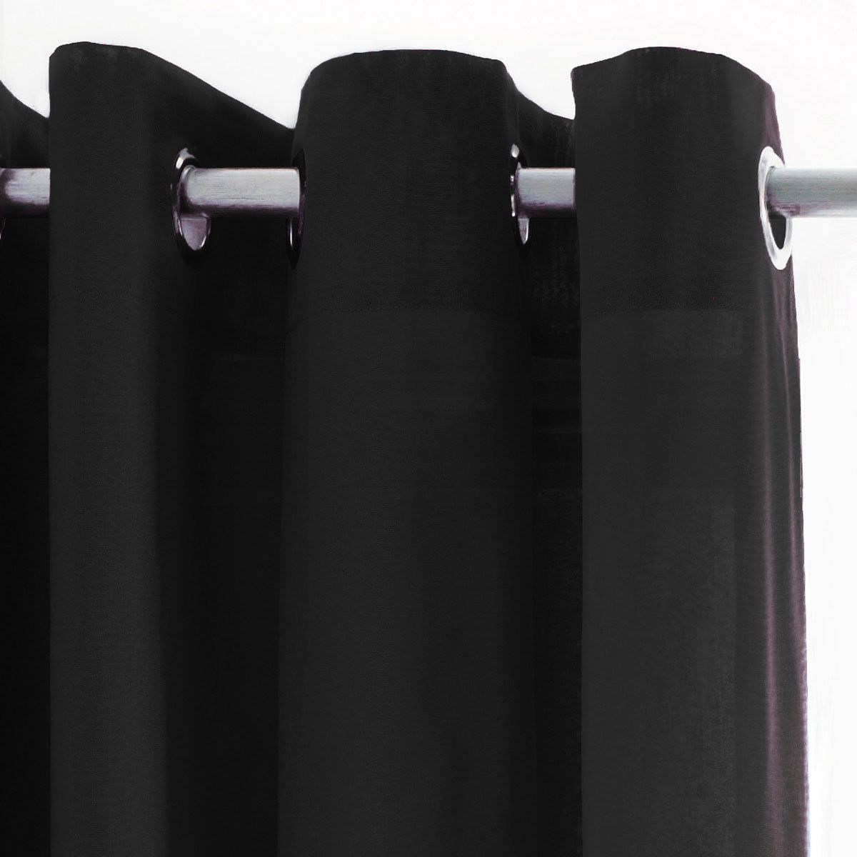 Rideau Uni cusco noir 135x240cm
