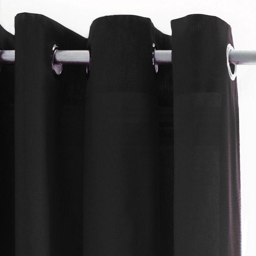 Rideau uni noir Cusco 135x240 cm