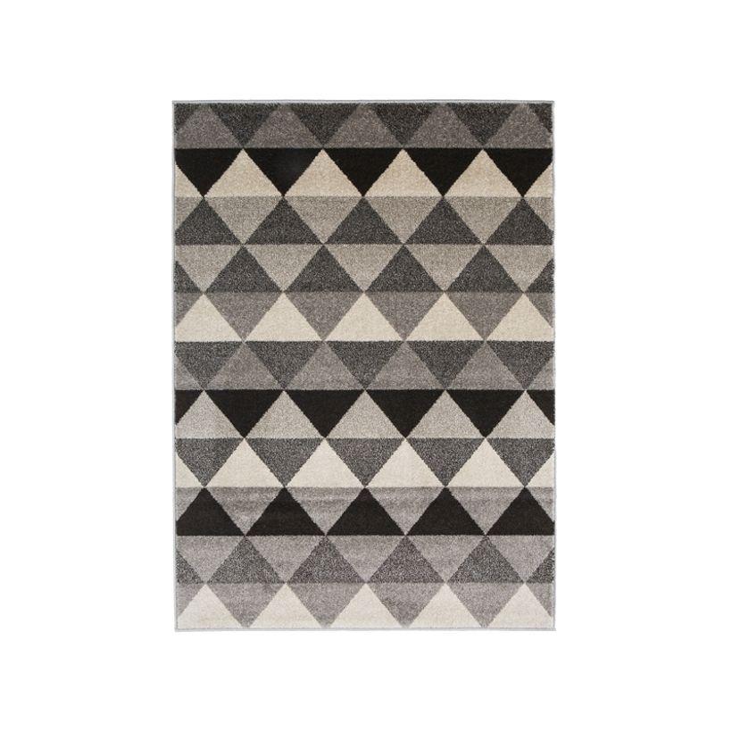 Tapis scandinave gris beige Maoke 60x110 cm