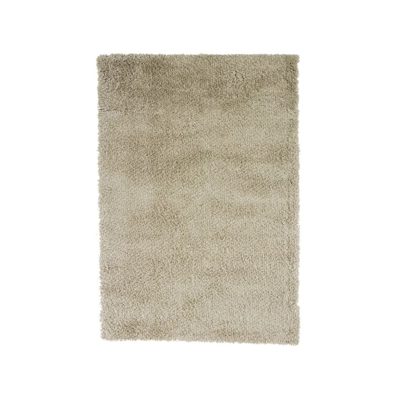 Tapis shaggy blanc craie Softy 60x110 cm