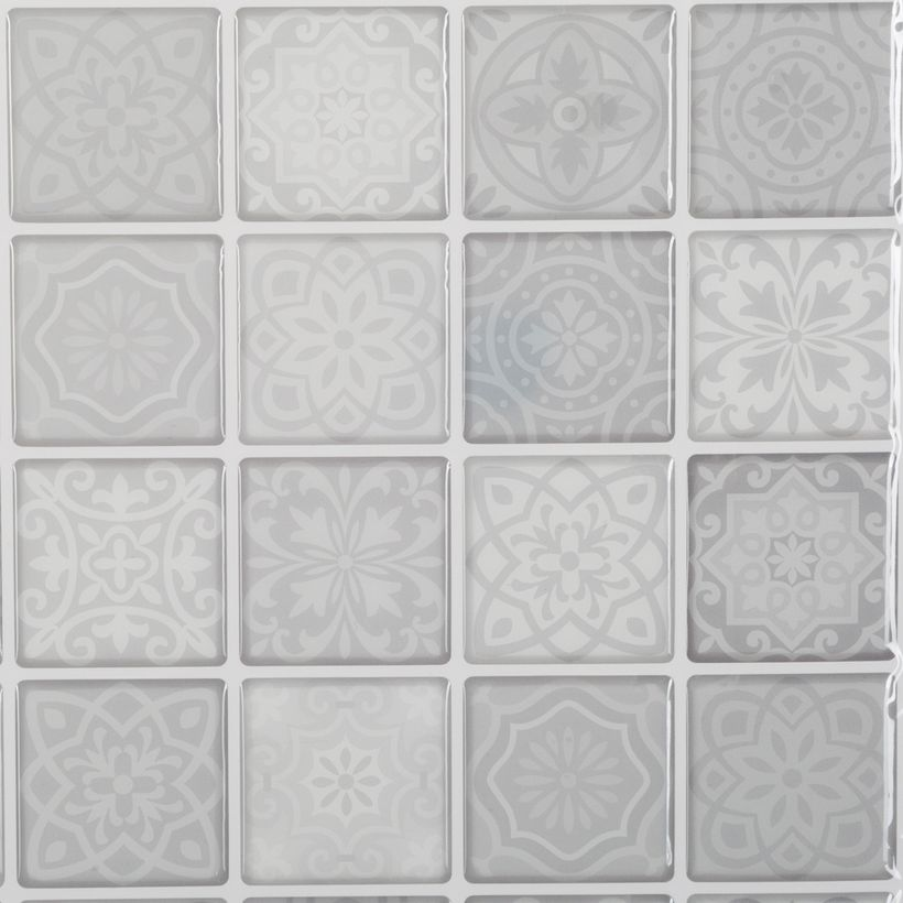 Sticker carrelage petits carrés gris