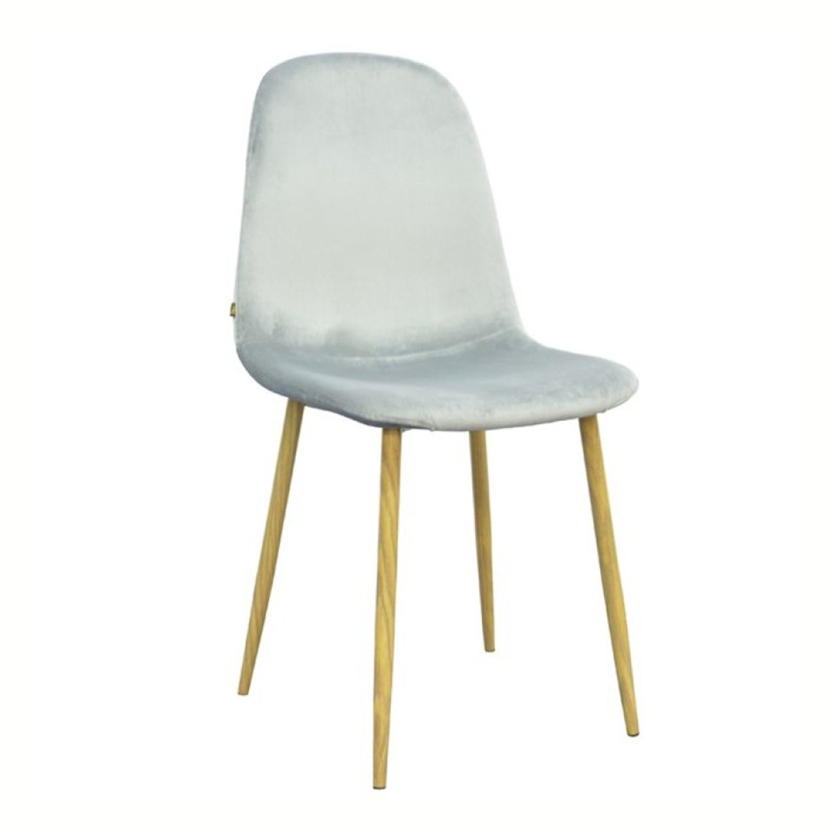 Chaise velours Stockholm gris