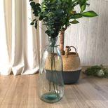 Vase bouteille transparent en verre recyclé H. 51 cm
