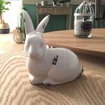 Objet à poser céramique lapin