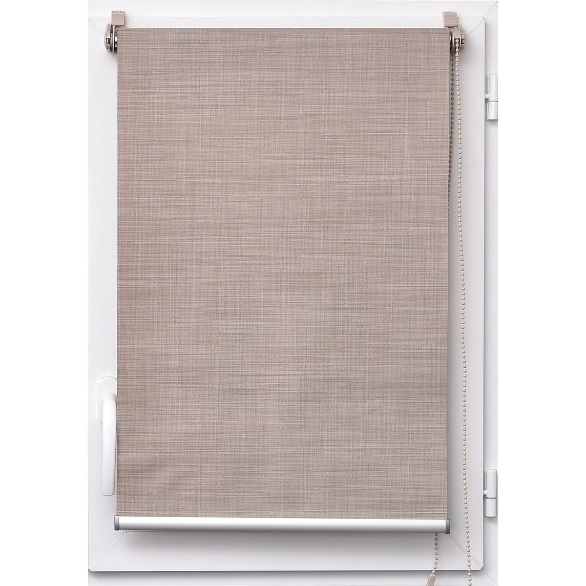 Store tamisant effet lin taupe Tao 60x180cm