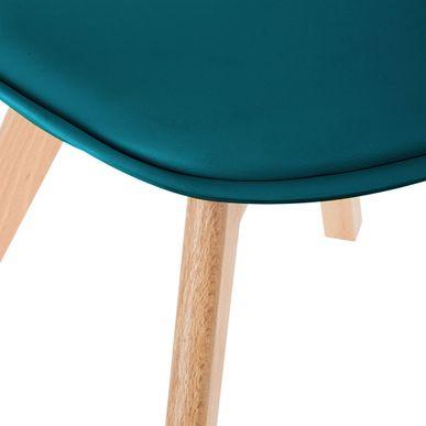 chaise scandinave bleu canard baya int rieur nordique. Black Bedroom Furniture Sets. Home Design Ideas