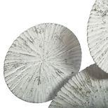 Déco murale en métal cercles blanchis