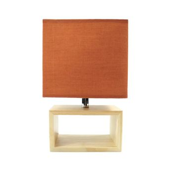 Lampe A Poser Cube Rouille