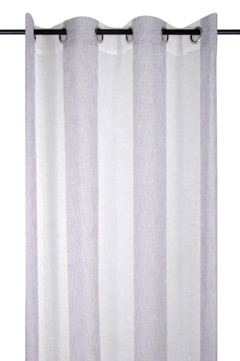 Rideau effet lin à rayures lin Solaine 135x260 cm