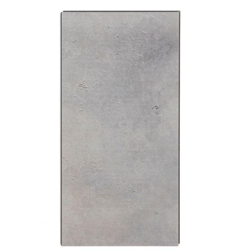 Dalle pvc clipsable gris argent 5mm Talente